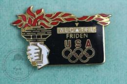 USA 1996 Olympic Games - Alcatel Friden - Pin Badge #PLS - Juegos Olímpicos