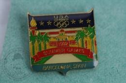 Olympic Games - Barcelona 1992 -USA Summer Games - Pin Badge #PLS - Juegos Olímpicos