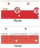 """Ticket """"Unit�"""" (m�tro, bus et tramway) r�seau TCL � Lyon. 2001."""
