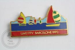 Olympic Games - UAP/FFV Barcelona 1992 - Pin Badge #PLS - Juegos Olímpicos