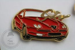 Alfa Romeo GTO Red Colour Car - Pin Badge #PLS - Alfa Romeo