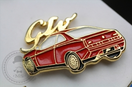Alfa Romeo GTO Red Colour Car - Rear View - Pin Badge #PLS - Alfa Romeo