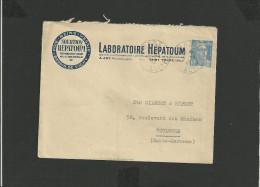 Enveloppe 1947 Laboratoire HEPATOUM Saint-Yorre Allier - Marcophilie (Lettres)