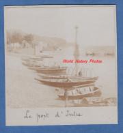 Photo ancienne avant 1900 - INTRA - Porto / Port - Barque de p�cheur - Lago Maggiore - Verbania