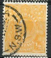 Australia 1927 1/2p King George V Issue #66 - 1913-36 George V: Heads