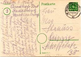 All. Besetz. (Sowj. Zone) Mecklenburg-Vorpommern amtl. GZS  P5a, 6Pf gr�n, wei�-rahmf. gest.15.11.45 SCHWERIN