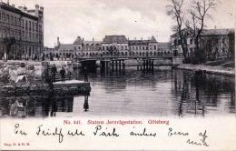 GÖTEBORG - Statens Jernvägsstation, Karte Gel.1906 - Schweden