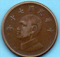 TAIWAN   1 Yuan  Yr 70 ( 1981 ) - Taiwan