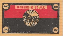CUBA/KUBA SPLENDIDO BUONO - BOND DA 100 $ PER FINANZIARE LA RIVOLUZIONE CUBANA RARISSIMO