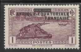 AFRIQUE EQUATORIALE FRANCAISE - AEF - A.E.F. - 1936 - YT 17** - Unused Stamps