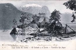 Rarität > ARGENTINIEN? > Lago Todos Los Santos - El Techado Y El Bonete - Territorio Rio Negro, Karte Gel.um 1900 - Argentinien