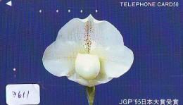 Télécarte Japon * ORCHID * FLEUR (3611) Orchidée Orquídea Orquidée Orchid * Flower Phonecard JAPAN * - Blumen