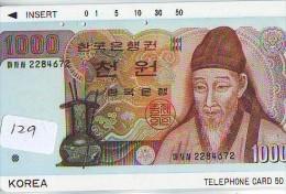 Télécarte JAPON * Billet De Banque (129) Notes Money Banknote Bill * Bankbiljet Japan * Coins * MUNTEN * - Timbres & Monnaies