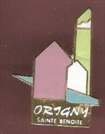 38654-Pin's.Origny-Sainte -Benoite  . - Villes