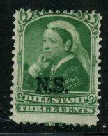Nova Scotia 1868 3 Cent Bill Stamp Ssue #NSB4 - Nova Scotia