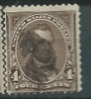 USA 1895 WITH DOUBLE LINE OF WATERMARK LiNcoln 4c USED SC 269 YV 113 MI 106 SG 272 - Gebraucht