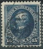 USA 1895 WITH DOUBLE LINE OF WATERMARK Clay 15c USED SC 274 YV 118 MI 111 SG 277 - Gebraucht