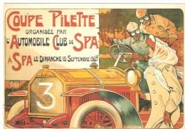 CP- Belgique - Spa - Reproduction Affiche Ancienne - Coupe Pilette - 1907 - Publicidad