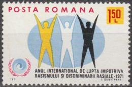 ROMANIA, 1971, Intl. Year Against Racial Discrimination, MNH (**), LPMP/Sc. 755/2225 - 1948-.... Republics