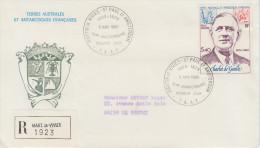 Enveloppe   Oblit.   1er   Jour   T.A.A.F    CHARLES   DE    GAULLE    1980 - De Gaulle (Général)