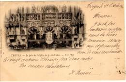 Troyes - Le Jubé De L´eglise De La Madeleine - Timbre Y&T France N°103 - Cachet De Troyes à Anvers - Troyes