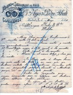 FABRICA DE SOMBREROS DE PAJA-MADRID 3-5-1896 - Espagne