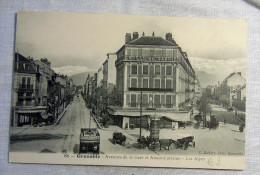CPA  GRENOBLE - AVENUES DE LA GARE  ET ALSACE LORRAINE TRAM ANIME RARE - Grenoble