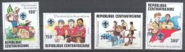 Centrafricaine République YT N°491/494 Scoutisme Neuf ** - Central African Republic