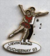 Pin´s Patinage Patineur Duchesnay Liévin 93 (rouge) - Patinage Artistique