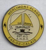 Pin´s La Poste Merlimont Plage Pas-de-Calais - Correo