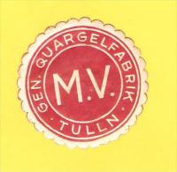 Old Labels, Promotional Labels Or Similar - M.V. Tulln - Autres Collections