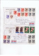 Two Italy HOTEL Covers - 6. 1946-.. Republic