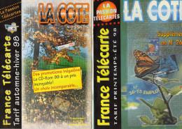 TARIFS  TELECARTES/ MATERIEL DE COLLECTION  La Boutique De La Cote En Poche   ANNEES1998 à 2004  (lot De 14 ) - Télécartes