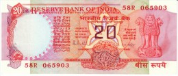 India #82g, 20 Rupee 19B5-90 Anknote Currency - India