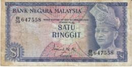 Malaysia #1a 1 Ringgit 1967-72 Banknote Currency - Malaysia