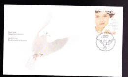 CANADA, 1999, MNH, # 1813, Millenium Issues:   Child & Dove Of Peace , MNH - Premiers Jours (FDC)