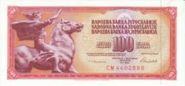 Yugoslavia #90c, 100 Dinars, 1986 Banknote Currency - Yugoslavia