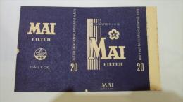 Vietnam Viet Nam MAI Empty Soft Pack Of Tobacco Cigarette - Boites à Tabac Vides