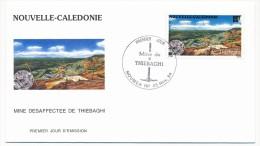 NOUVELLE CALEDONIE => 1 FDC => 1994 - Mine De Thiebaghi - FDC