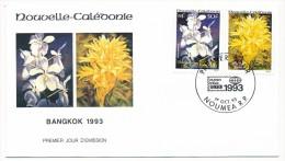 NOUVELLE CALEDONIE => 1 FDC => 1993 - Fleurs - Banghok 1993 - FDC