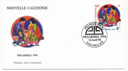 NOUVELLE CALEDONIE => 1 FDC => 1994 - Philakorea - FDC