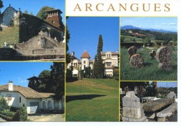 Arcangues Multivues : église Presbytère Château Golf Tombes Discoïdales Auberge Achtal N°1143 Thouard - Otros Municipios