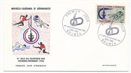 NOUVELLE CALEDONIE => 4 FDC => 1966 - 2eme Jeux Du Pacifique Sud - FDC