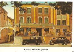 "HOTEL RESTAURANT ""SAINT NICOLAS ""  REMICH Luxembourg Vieilles Automobiles - Hoteles & Restaurantes"