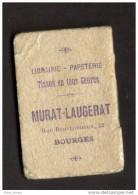 Almanach De Poche Bourges Papeterie Murat 1913 - Calendars