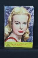 Vintage 1962 Double Small Calendar - Cinema/ Actors Topic: Paramount Actress Jean Wallace - Spanish Advertising - Calendarios