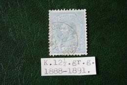 5 Ct Willem III NVPH 19 L 19L (Mi 19) 1872 Tanding 12 1/2  Gestempeld / USED NEDERLAND / NIEDERLANDE - 1852-1890 (Guillaume III)