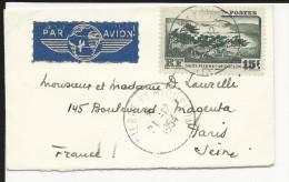 SPM - 1954 - ENVELOPPE  Pour PARIS - St.Pierre & Miquelon