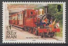 "Isle Of Man 1988 Mi 384 YT 384 ** I.M.R. No. 11 ""Maitland"" Pulling Royal Train Of Queen Elisabeth II. (1963) / Sonderzug - Treinen"
