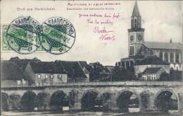 CPA Gruss Aus Herbitzheim - Saarbrücke Und Katholische Kirche - France